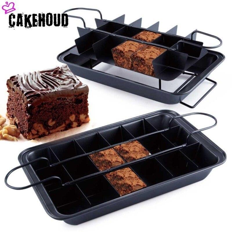 Queen Of Cakes Bandeja tradicional de acero para brownie.
