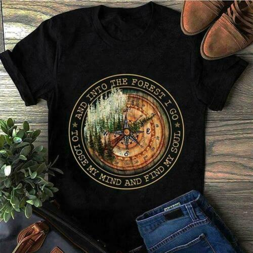 And Into The Forest I Go To Lose My Mind And Find My Soul Men   T     Shirt   Black
