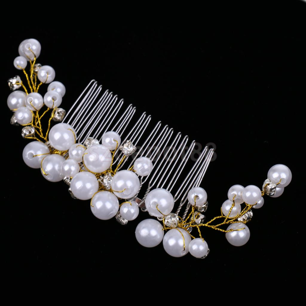 Vintage Crystal Tuck Comb Bridal Hair Pins Rhinestone Hair Clips Girls Hair Accessory for Wedding Party Proms Fancy Dress