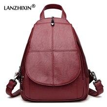 Lanzhixin Для женщин Рюкзаки высокое качество Сумки на плечо из искусственной кожи Рюкзаки девушка все-матч Рюкзаки элегантный дизайн сумка 1062