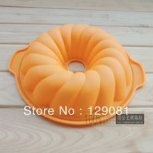 New arrival silicone gel cake mould larger spiral with handle high temperature resistance