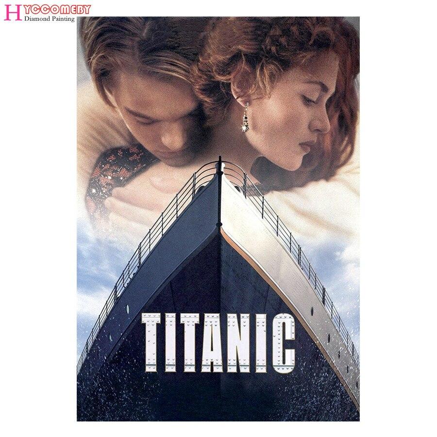 5D Diamond Painting Movie Titanic Dead DIY full round square Diamond Embroidery Diamond Mosaic Cross Stitch decoration gift