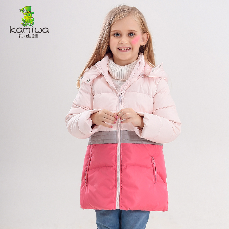 kids Down Jackets 2017 new style girl jacket  white duck down removeable cap girls winter clothing  thick  warm girl down coat fancytrader new style giant plush stuffed kids toys lovely rubber duck 39 100cm yellow rubber duck free shipping ft90122