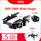 S20 FOLLOW ME FPV RC Drone With Video 1080P HD Camera Photos Features Double GPS Quadcopter 5MP pixel Return Home Foldable drone