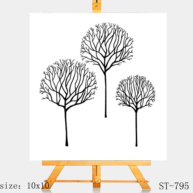 AZSG Withered tree Clear Stamps Silicone Transparent Seals for DIY scrapbooking Card Making in Stamps from Home Garden