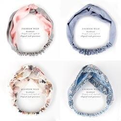 Винтаж смешать 34 Цвета эластичная чалма аксессуары для волос Обёрточная бумага плед узел резинки для волос для Для женщин девочек