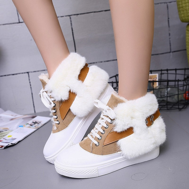 Unique Design Of High Quality Boots 2017 Winter Fashion Warm Snow Boots Female Round Head Boots