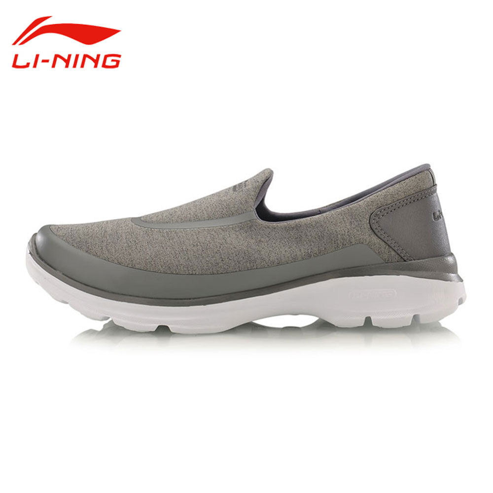 Li-Ning Men's Leisure Slip-On Walking Shoes Breathable Comfort Jogging Sneakers LiNing Wearable Easy-Walker Sports Shoes ACGM017 li ning men dominator basketball shoes leather support lining wearable sports shoes li ning breathable sneakers abpm027