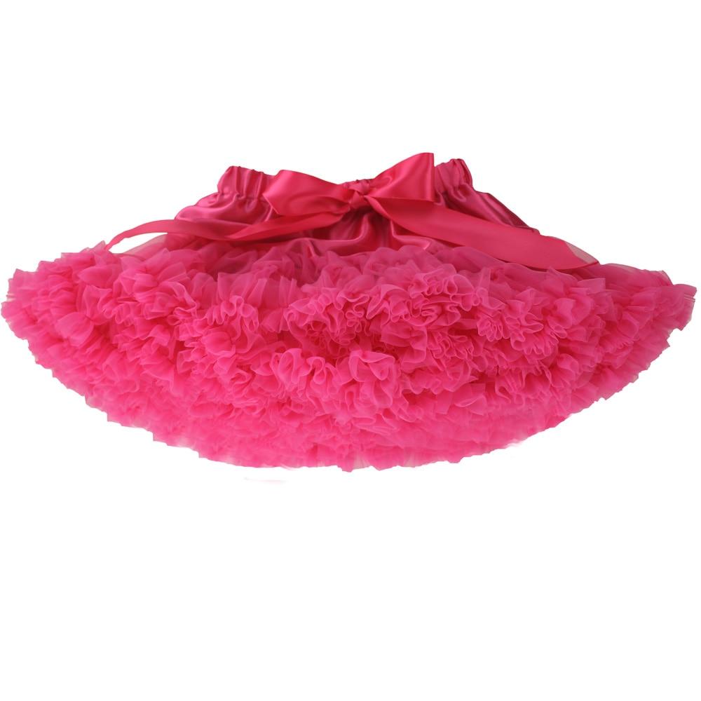 Юбка-американка для девочек; праздничная одежда на Хэллоуин; оранжевые юбки-пачки для маленьких девочек; пышная юбка-пачка для девочек; Одежда для девочек - Цвет: hot pink