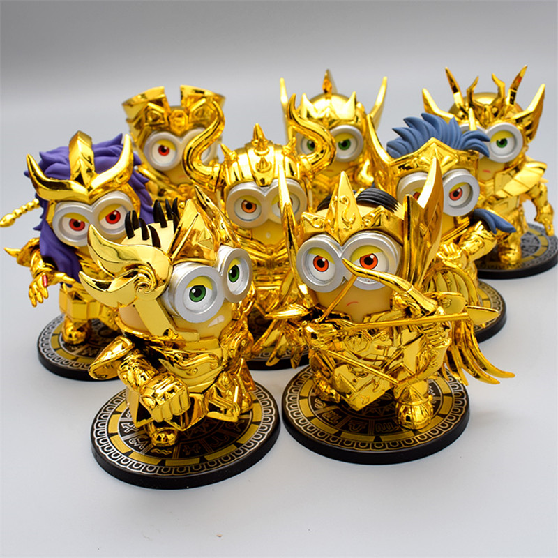 8 Style Anime Figurine Cosplay Saint Seiya Virgo Gemini Leo Sagittarius Gold PVC Action Figures Model Children Toys 10cm super classic 12pcs set saint seiya 1 9 golden aries taurus gemini action figure pvc collection figures toy girl christmas gift