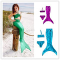 Halloween Costume Mermaid Tail Costume Girls Kids For Swimming Children the little mermaid Swimmable Mermaid Cosplay Clothes
