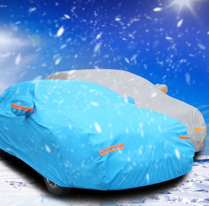 cotton thicken car cover snow rain sun protect night reflect light can be locked good quality