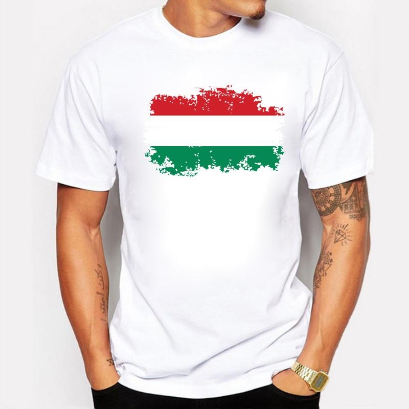 BLWHSA Men T-shirt Fashion Hungary National Flag Fans Cheer Men's T Shirt...