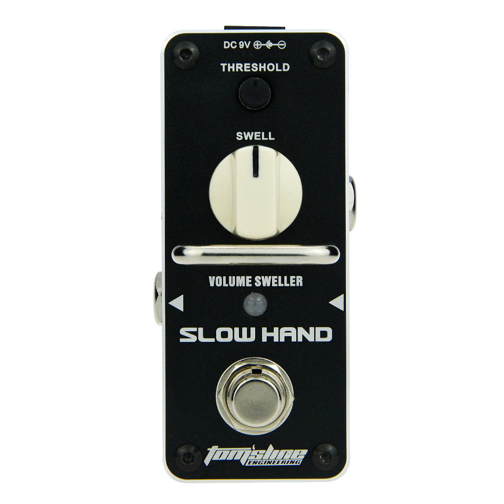 Aroma Slow Hand Volume Sweller Guitar Effect Pedal ASH-3 Threhold Violin-like Tone Mini Analogue Pedal True Bypass aroma adr 3 dumbler amp simulator guitar effect pedal mini single pedals with true bypass aluminium alloy guitar accessories