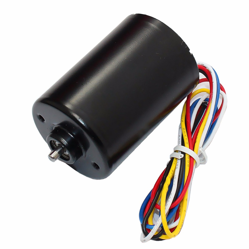 BLDC3650 Quadrupole Brushless DC Motor with Built in Drive, Long Life Brake Motor, Silent Motor 12 24V