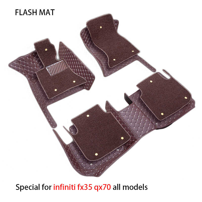 Special car floor mats for infiniti fx35 qx70 fx37 qx80 car accessories car mats