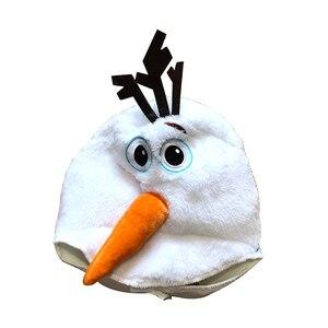 Image 4 - Роскошный плюшевый восхитительный Детский карнавальный костюм на Хэллоуин для малышей, Детские вечерние платья с героями мультфильмов и снеговиком