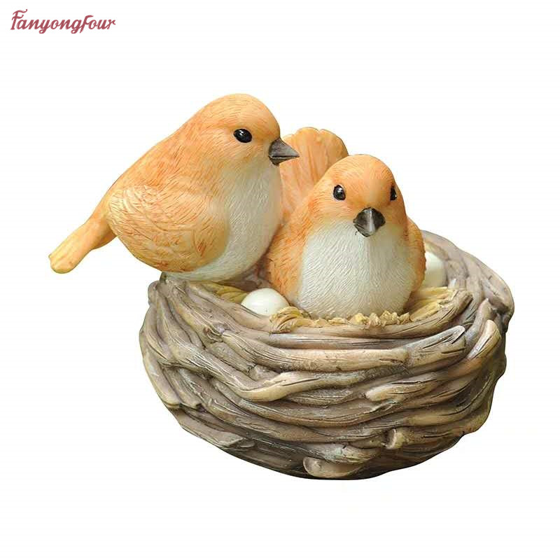 3D Garden Bird Cute Bird Nest Handmade Soap Silicone Mould DIY Making Gypsum Model Silicone Mold Chocolate Cake Decorating Tool