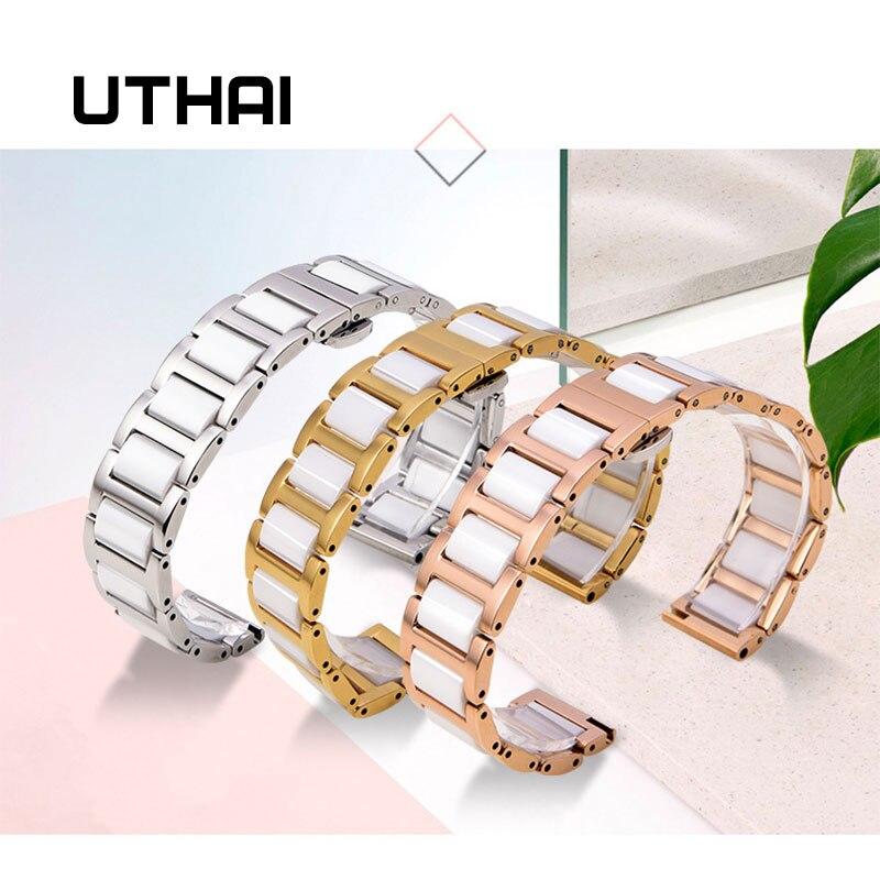 UTHAI C02 Ceramic 20mm watch strap 306L steel 22mm watch band high quality WatchbandsUTHAI C02 Ceramic 20mm watch strap 306L steel 22mm watch band high quality Watchbands