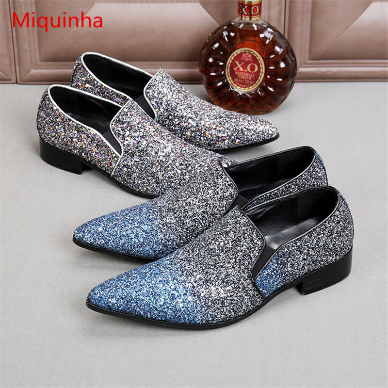 Miquinha British Style New Fashion Pointed Toe Men Slip On Casual Shoes Height Increasing Leather Boy Adult Shoes Loafer Flats pointed toe tassel leather shoes men slip on brogue shoes flats british style rivet shoes casual loafers chaussure homme 022