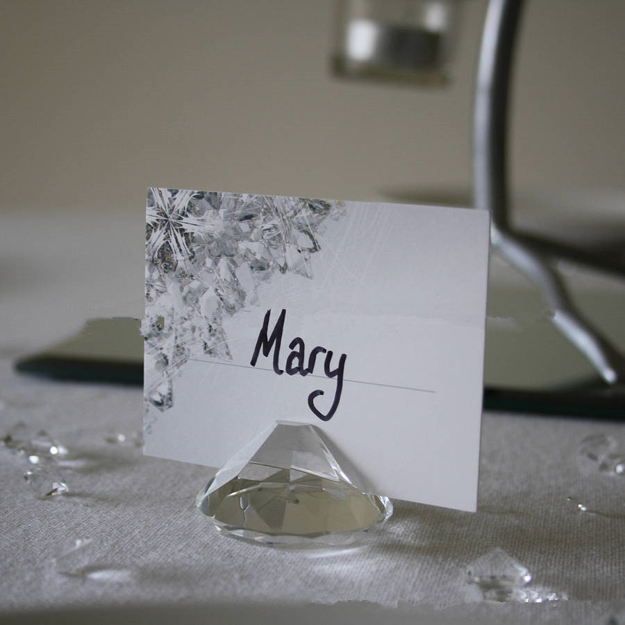 hot sale wholesale 50pcslot wedding gifts crystal name card holder favors for table decoration
