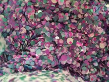 Green Purple White 100g Paille Ultrathin Sequins Mixed Nail Art ROUND Shapes Confetti Acrylic Round Glitter 02