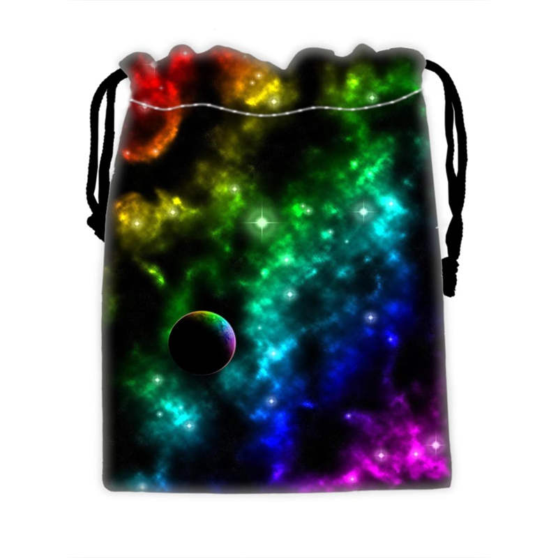 Custom COOL Galaxy Drawstring Bags For Mobile Phone Ablet PCjewelry Gift Packaging Bags Christmas Gift Bags Free Shipping SQ0709