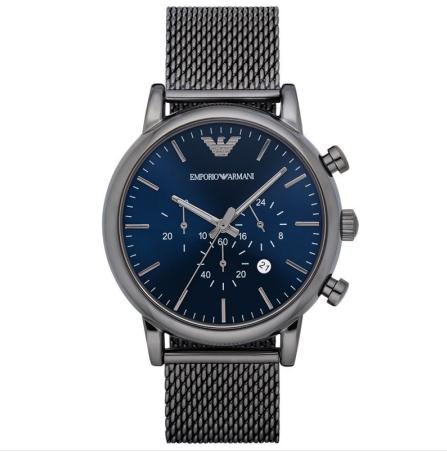 Giorgio Armani watch, Armani round dial three-time timer, waterproof men's watch, AR1979 + original box emporio armani luigi ar1979