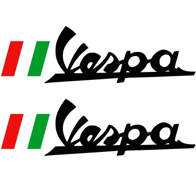 2x 15 5cm pegatinas car sticker vinilo vinyl vespa logo bandera rh aliexpress com