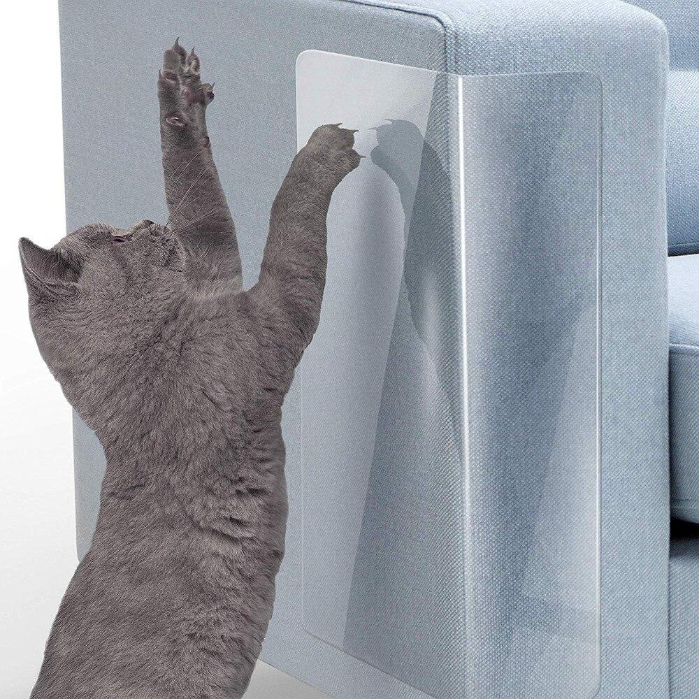 Attent 2 Stks/set Huisdier Kat Grote Scratch Guard Mat Katten Krassen Guard Post Meubels Sofa Cover Protector Pads Voor Lederen Stoelen Huisdieren