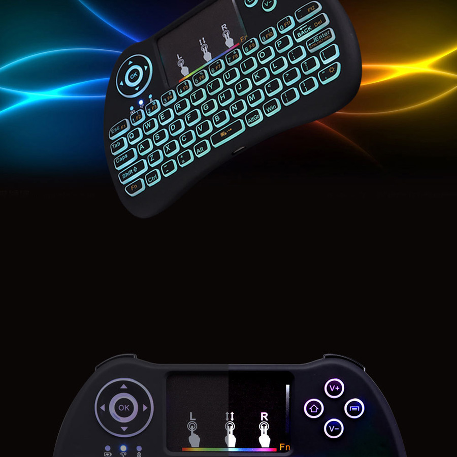 H9 wireless mini keyboard with RGB color backlight (10)