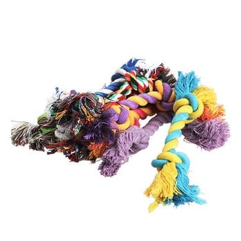 1 pcs Animais de estimação cães suprimentos para animais de estimação Filhote de cachorro de cachorro de algodão Nó de mastigação de brinquedo Corda de osso trançada durável 15 CM Ferramenta engraçada (cor aleatória) 1