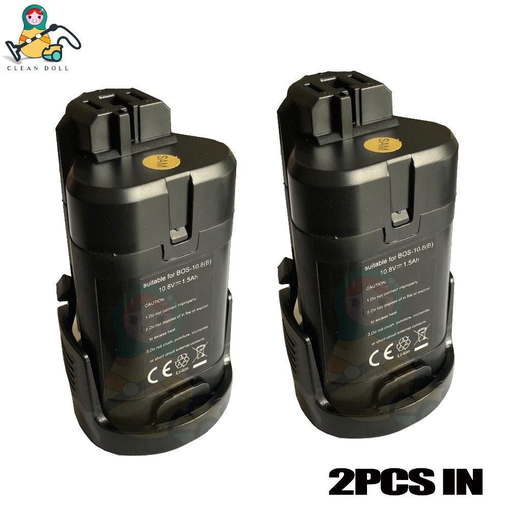 2-PACK OEM screw driver battery for bosch PMF PSM PSR 10.8V LI ION 2607336863 2607336864 2607336909  screwdriver battery parts2-PACK OEM screw driver battery for bosch PMF PSM PSR 10.8V LI ION 2607336863 2607336864 2607336909  screwdriver battery parts