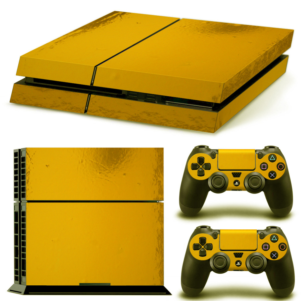 OSTSTICKER Pro Gamer Chrome Gold Skins For Sony Playstation 4 Controller Decal Sticker For PS4 Console Game Accessories
