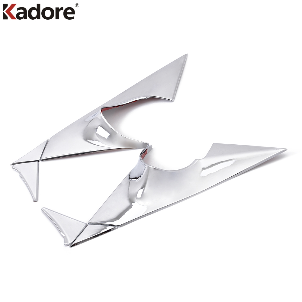 car-styling Fit For Kia Sportage 2011 2012 2013 2014 ABS Chrome Car Front Window Triangle back Rear Mirrior Cover side trim 6pcs fit for subaru forester 2013 2014 2015 2016 2017 2018 car styling abs chrome body side overlay cover trim trims