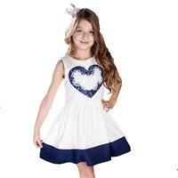 ChildDkivy 2 16Y Girls Dresses Summer 2017 Princess Dress Baby Girl Fashion Clothes Robe Fille Enfant