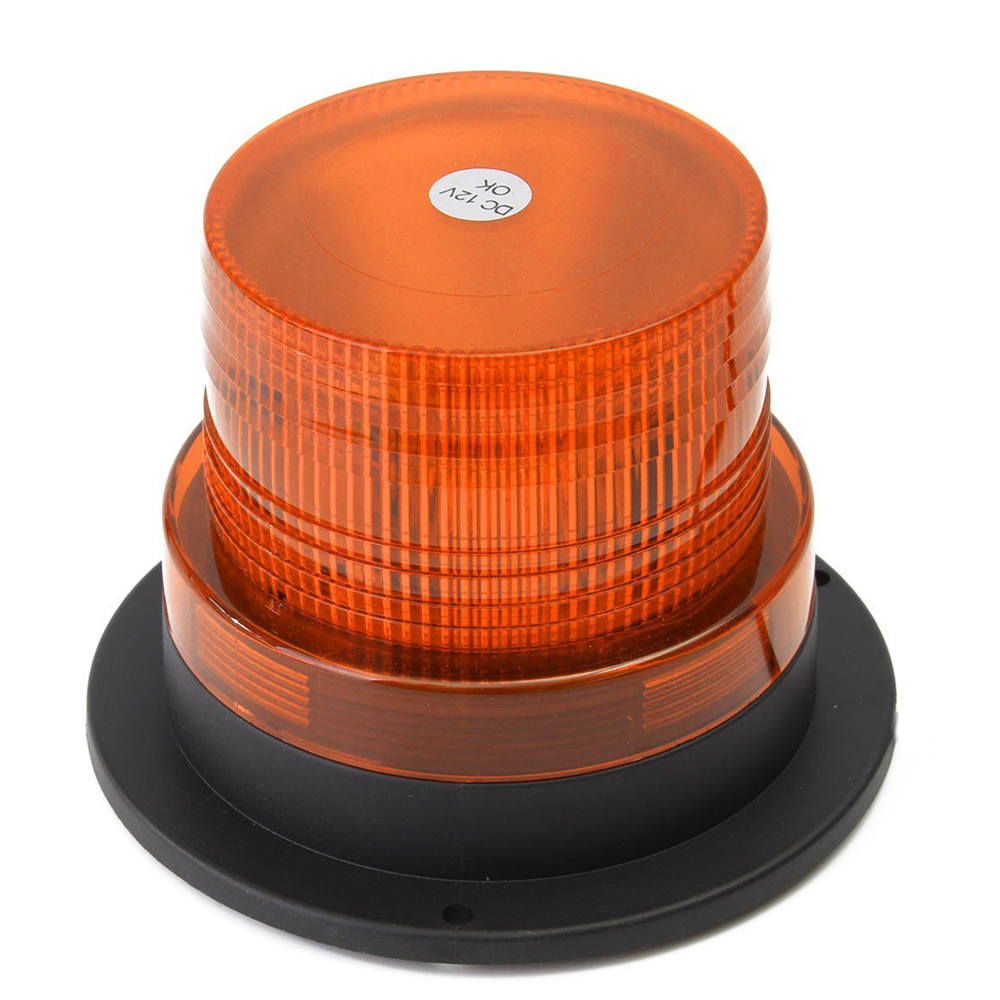 castaleca 1pcs LED Emergency Strobe Light super bright 12-24V Magnetic Warning Beacon Lights outdoor Roof flashing amber lamp 12v car roof strobe beacon warning light led light bar emergency light ambulance lightbar truck with magnetic super bright