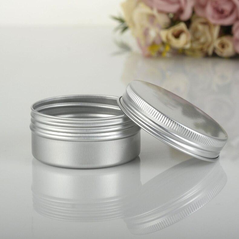 Free shipping 50g aluminium jars 50g aluminum tins 50ml cream jar 50ml aluminum canister