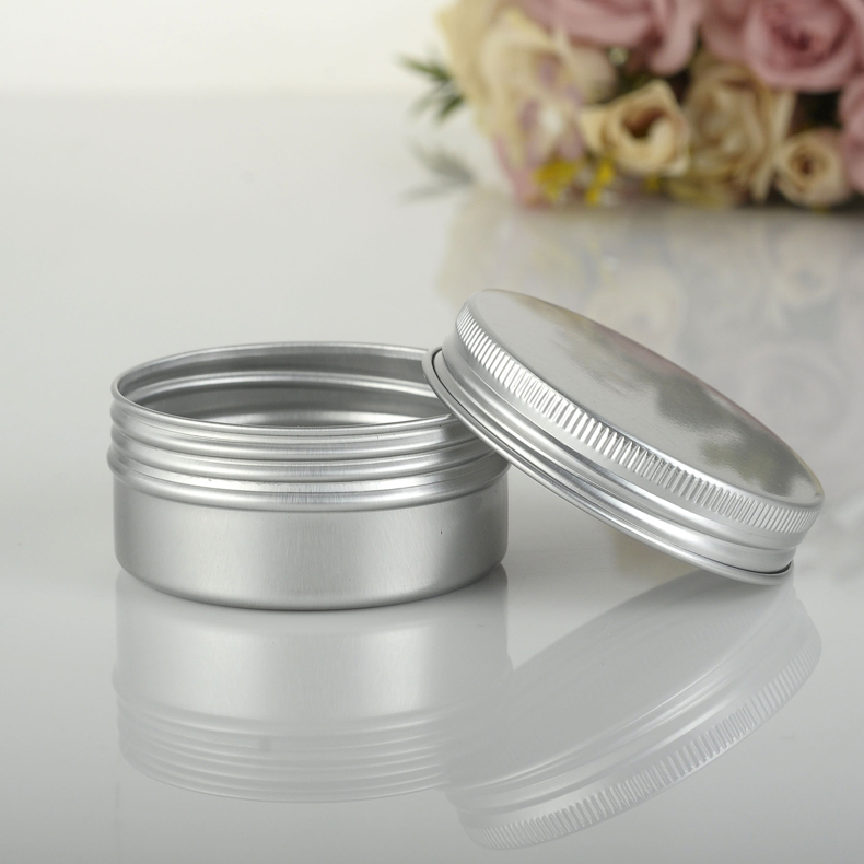 Free shipping 50g aluminium jars,50g aluminum tins,50ml cream jar 50ml aluminum canister-in Refillable Bottles from Beauty & Health    1