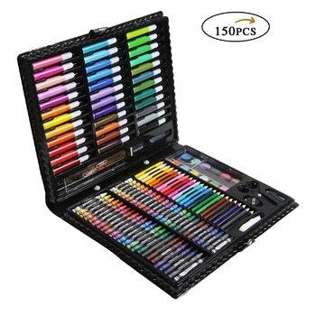 150 stücke Kinder Kinder Farbige Bleistifte Kinder Malerei Set Kreide Marker Stift Wasser Farbe Stifte Zeichnung Werkzeug Pinsel Schule Liefert auf