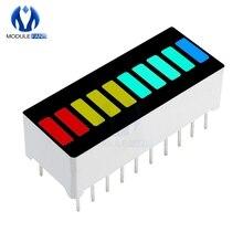 2 шт. светодиодный модуль дисплея 10 сегментный барграф светильник Модуль дисплея барный график ультра яркий красный желтый зеленый синий цвета многоцветный