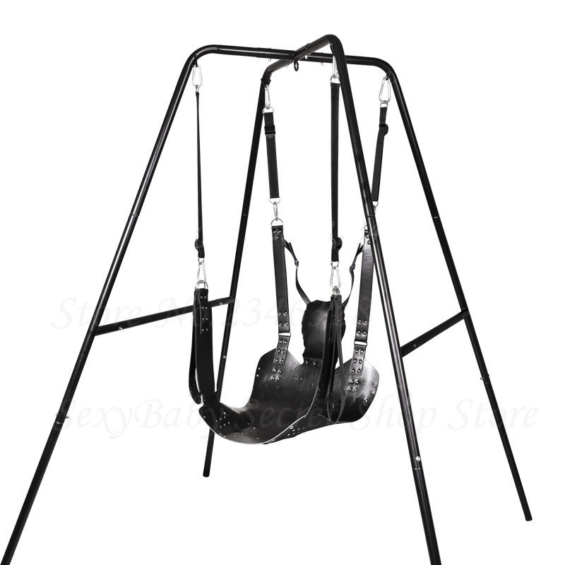 Sex Furnitures Two Layers Leather Sling Sex Hammock Sex Swing Chair Leather bed Hammock  ...