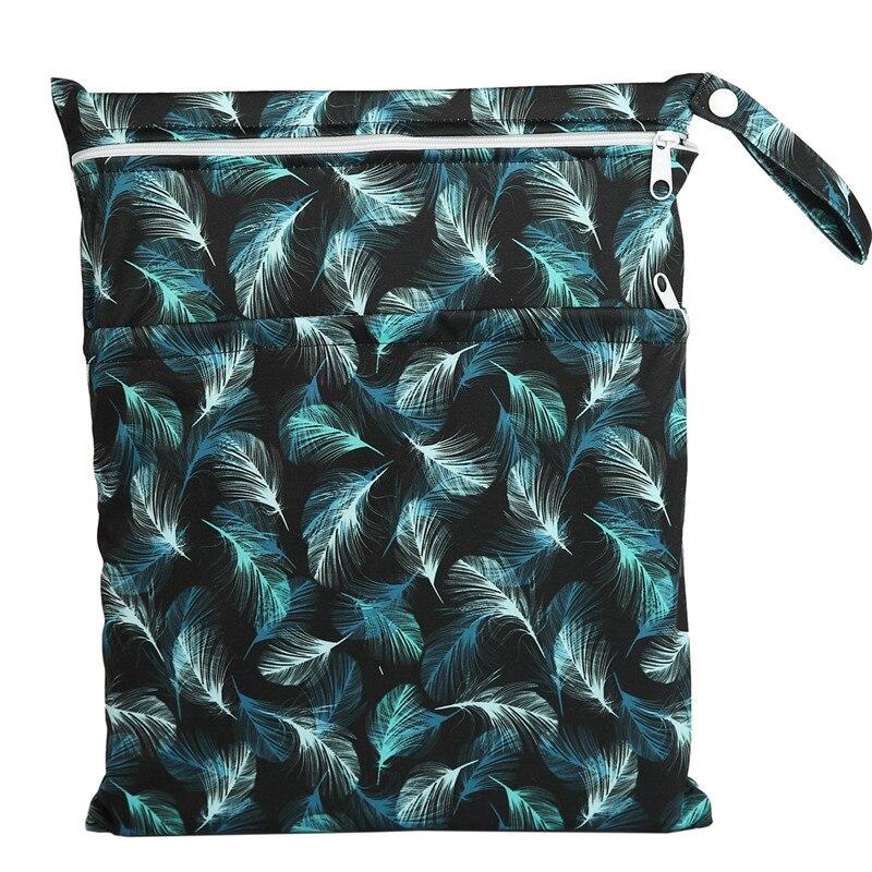 [Sigzagor] 1 Влажная сухая сумка с двумя молниями для детских подгузников, водонепроницаемая сумка для подгузников, розничная и, 36 см x 29 см, на выбор 1000 - Цвет: WH60
