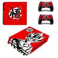 PS4 Pro etiqueta engomada de la piel de la Gogeta Pegatinas Estación de juego 4 Pro etiqueta de vinilo de la bola del dragón del lápiz para PS 4 consola y controlador
