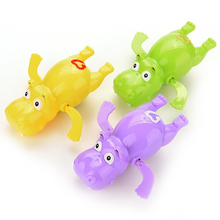 Durable Hippo Baby Kids Bath Toy Clockwork Wind Up Plastic Swimming Toys