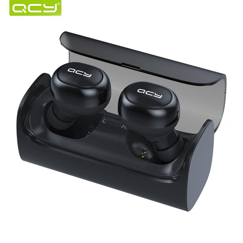 Qcy Q29 Bluetooth Наушники Спорт Бег Беспроводной гарнитура Шум отмена 3D стерео наушники с микрофоном и зарядки коробка