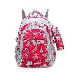 Новые детские школьные сумки для девочек, школьная сумка для начальной школы, детские школьные сумки, рюкзак с принтом, ортопедический рюкз...