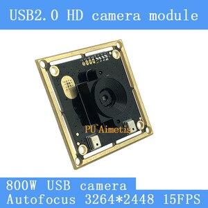Камера видеонаблюдения, двойной цифровой микрофон SONY IMX179 UVC с автофокусом, 8 Мп, 15 кадров/с, USB модуль для Linux и Windows