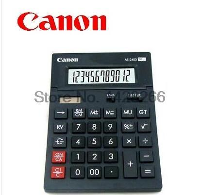 Canon AS 2400 Genuine font b Calculator b font King classic curved design digital Large Screen