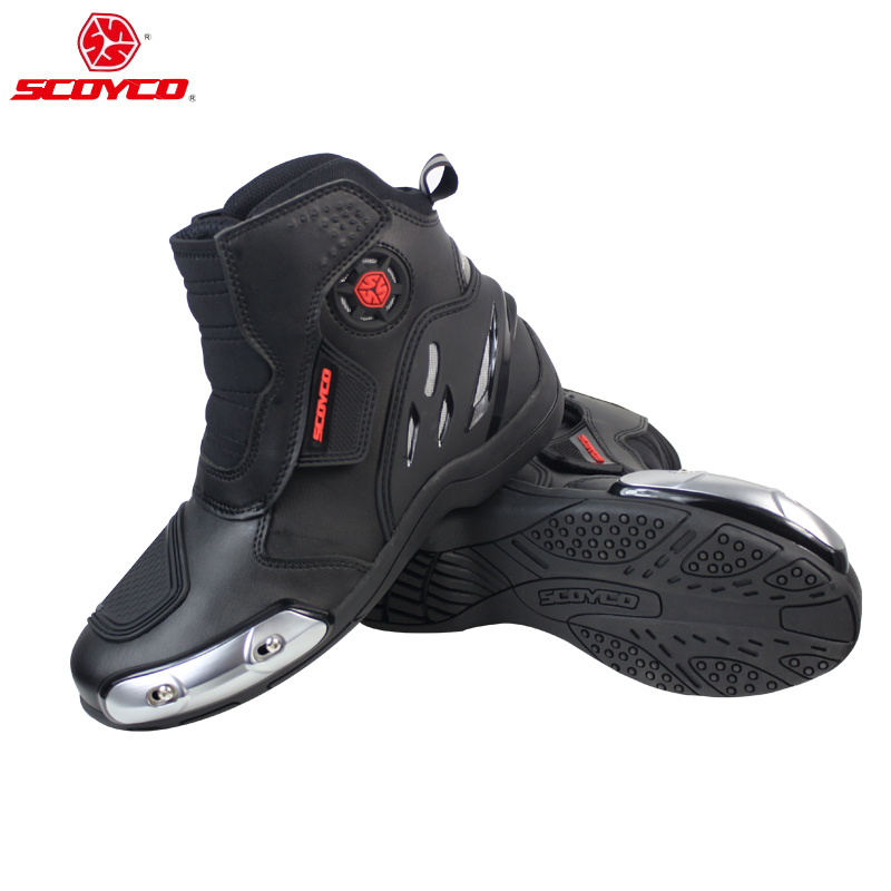 SCOYCO Motorcycle Boots Moto Motorbike Racing Boot Motocross Off-Road Racing Ankle Boots Street Riding Shoes Protective Gear